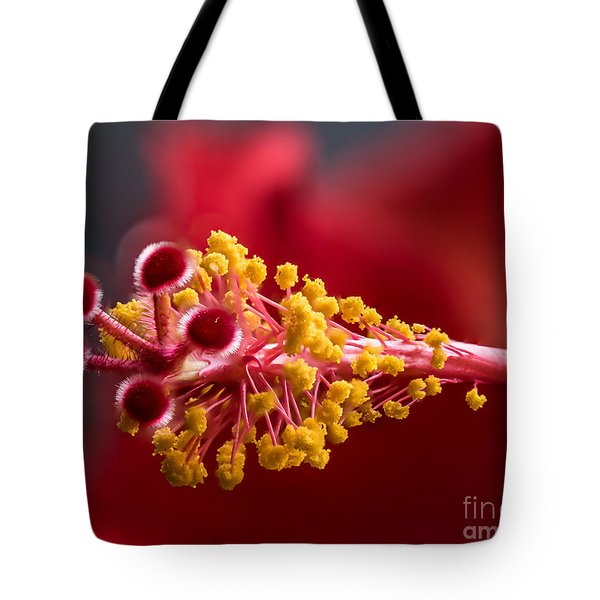 Macro Flower Tote Bag