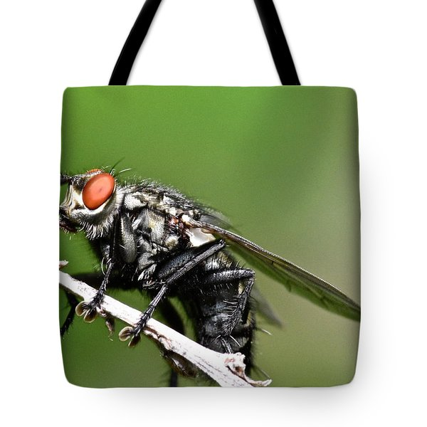 Macro Fly Tote Bag