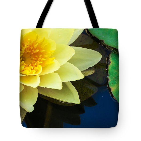Macro Image Of Yellow Water Lilly Tote Bag