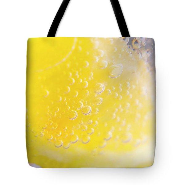 Macro Lemonade Bubbles Tote Bag