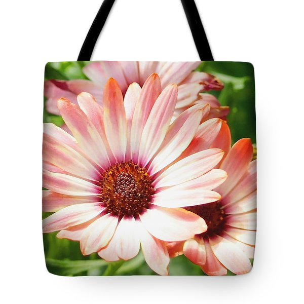 Macro Pink Cinnamon Tradewind Flower In The Garden Tote Bag