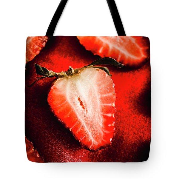 Macro Shot Of Ripe Strawberry Tote Bag