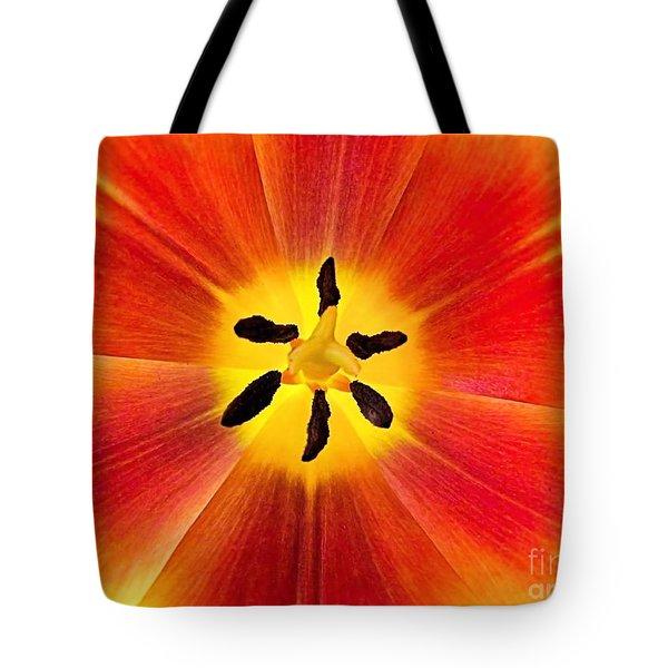 Macro Tulip Tote Bag