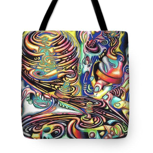 Macrocosmic Creation Of A Splendid Puzzle Tote Bag