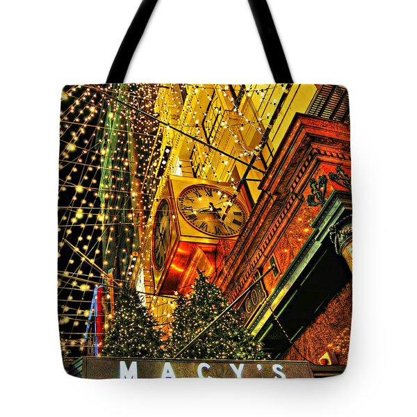 Macy's Christmas Lights Tote Bag by Randy Aveille