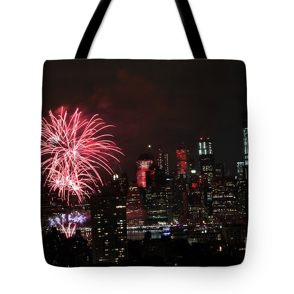 Tote Bag featuring the photograph Macy's July 4th 2015 Fireworks-2 by Steven Spak
