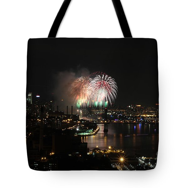 Tote Bag featuring the photograph Macy's July 4th 2015 Fireworks-4 by Steven Spak