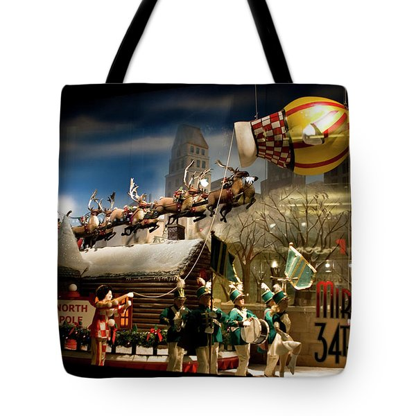 Tote Bag featuring the photograph Macy's Miracle On 34th Street Christmas Window by Lorraine Devon Wilke