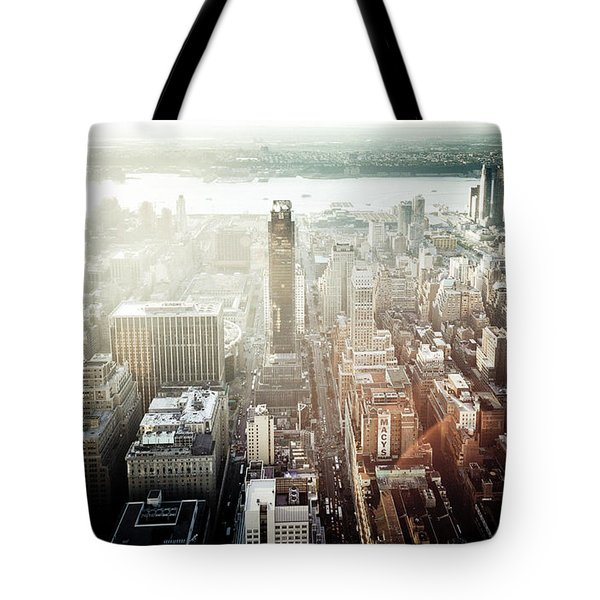 Sunset At Macy's Tote Bag