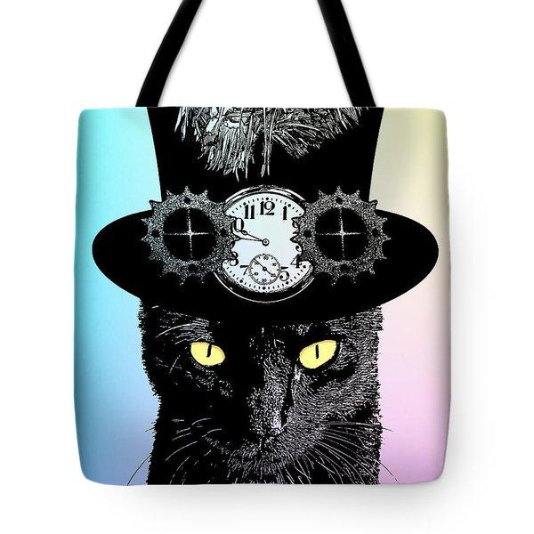 Mad Hatter Cat Tote Bag