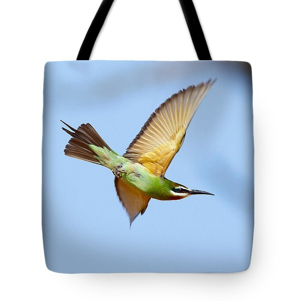Madagascar Bee Eater In Flight Tote Bag