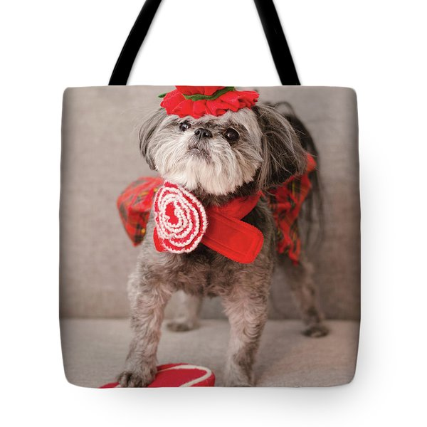 Tote Bag featuring the photograph Madam Scarlett In All Red by Irina ArchAngelSkaya