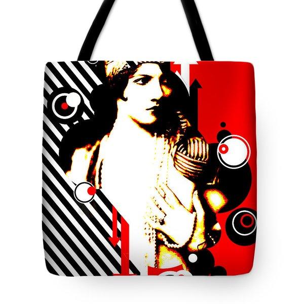 Madam Stripe Tote Bag by Chris Andruskiewicz