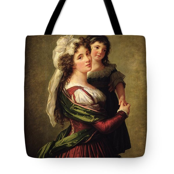 Madame Rousseau And Her Daughter Tote Bag by Elisabeth Louise Vigee Lebrun