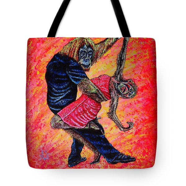 Tote Bag featuring the painting Madame... by Viktor Lazarev