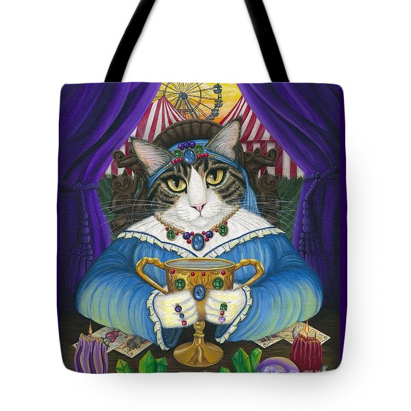Madame Zoe Teller Of Fortunes - Queen Of Cups Tote Bag
