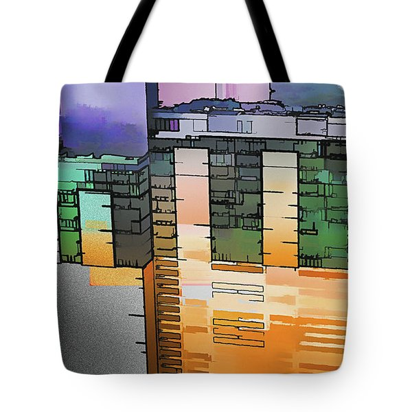 Tote Bag featuring the digital art Made For Each Other by Wendy J St Christopher