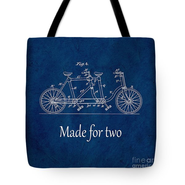Made For Two - Blue Tote Bag