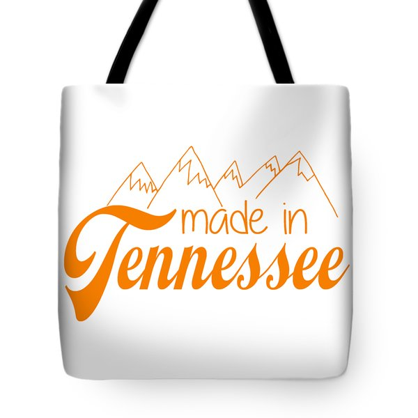 Tote Bag featuring the digital art Made In Tennessee Orange by Heather Applegate