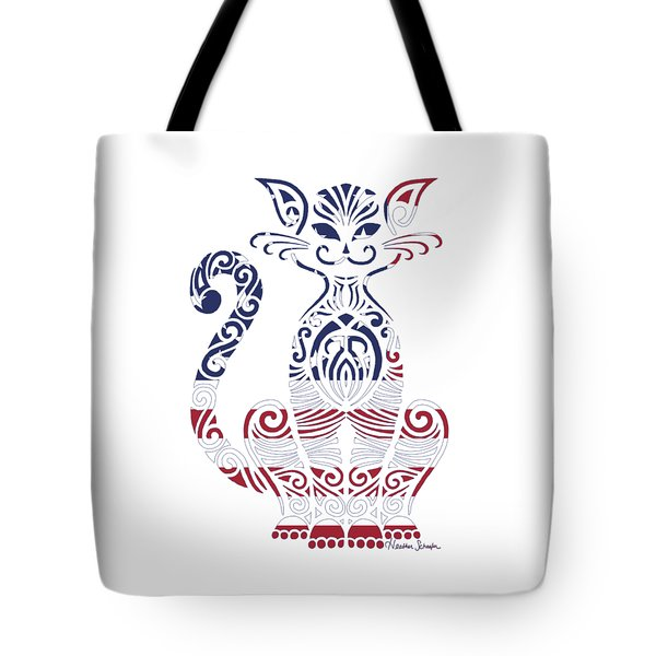 Made In The Usa Cat Tote Bag