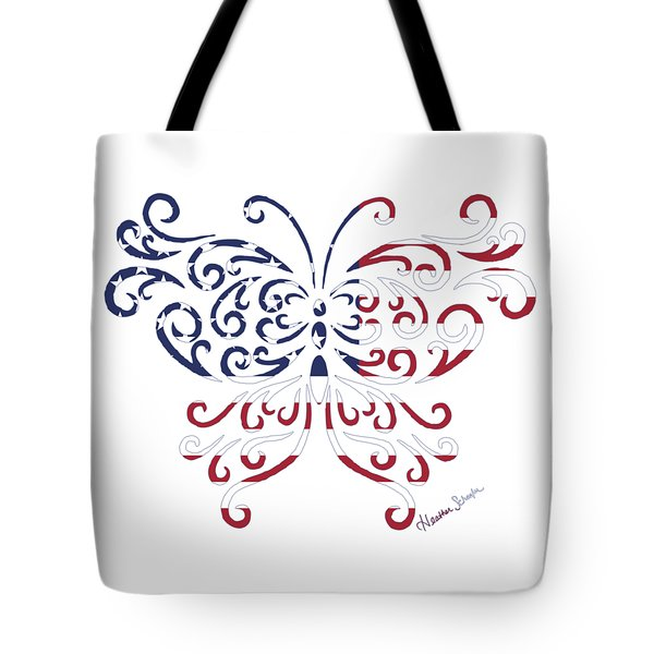 Made In The Usa Tribal Butterfly Tote Bag