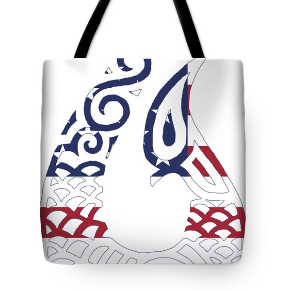 Made In The Usa Tribal Fish Hook Tote Bag