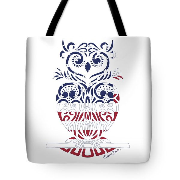 Made In The Usa Tribal Owl Tote Bag