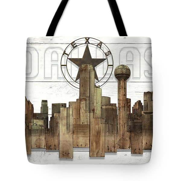Made-to-order Dallas Texas Skyline Wall Art Tote Bag