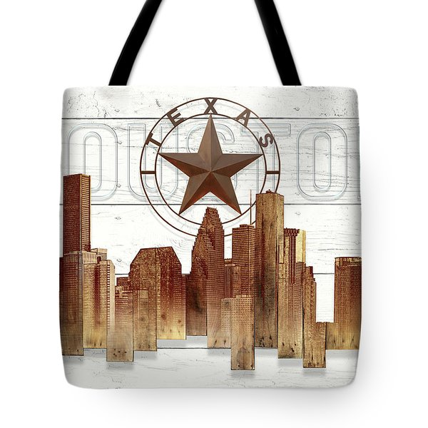 Made-to-order Houston Texas Skyline Wall Art Tote Bag