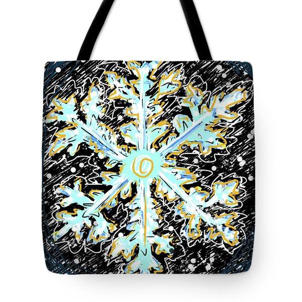 Madeline Snowflake Tote Bag