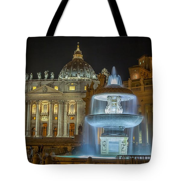 Maderno's Fountain Tote Bag by Ed Cilley