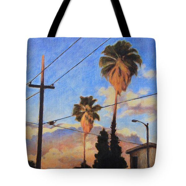 Madison Ave Sunset Tote Bag by Andrew Danielsen