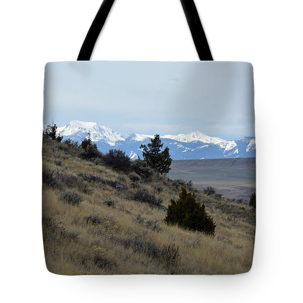 Madison Buffalo Jump State Park In Spring Tote Bag by Bruce Gourley