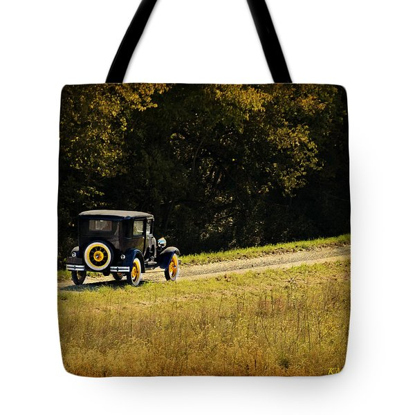 Madison County Back Roads-ford Tote Bag by Kathy M Krause