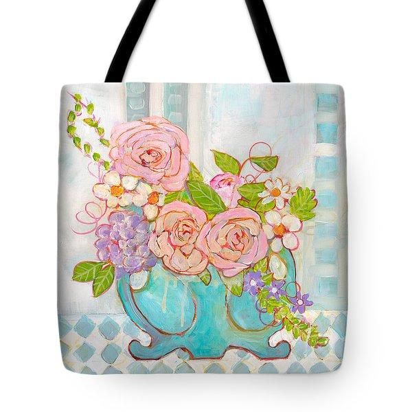 Madison Rose Flowers Tote Bag