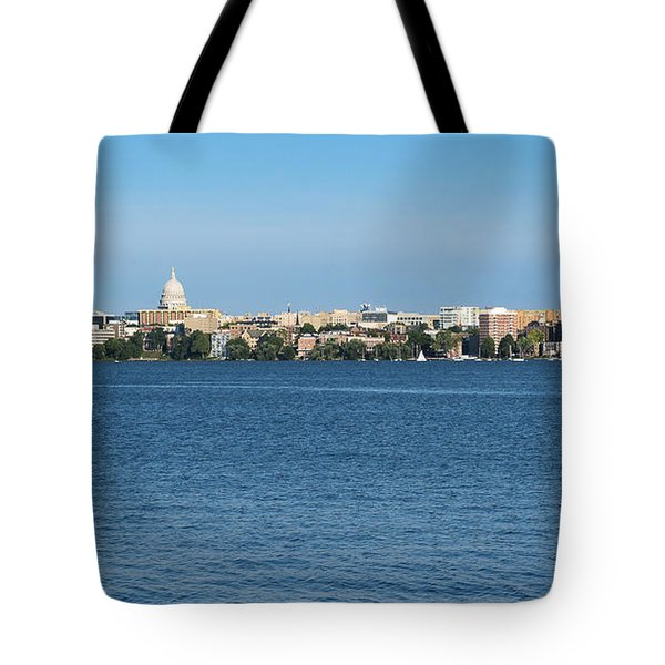 Madison Skyline From Picnic Point Tote Bag