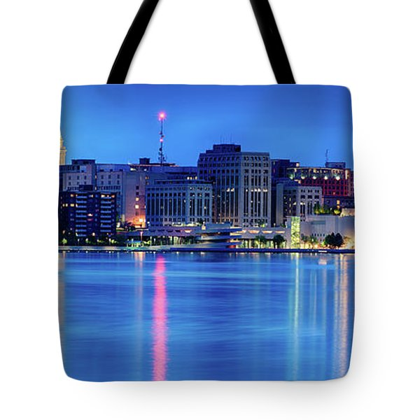 Madison Skyline Reflection Tote Bag