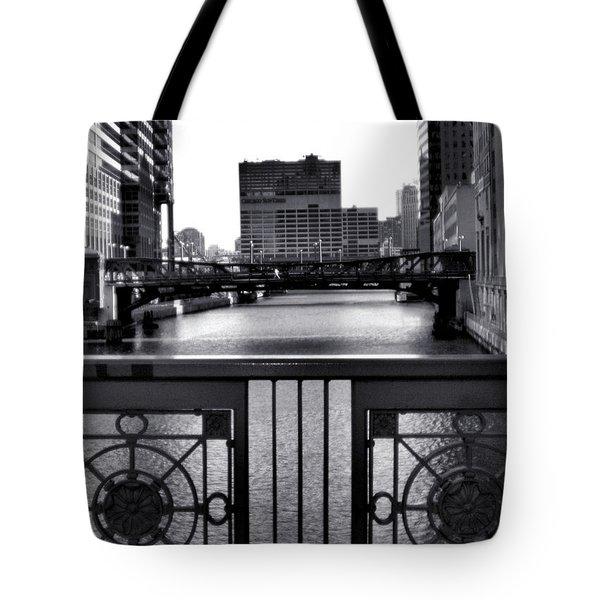 Madison Street Bridge - 3 Tote Bag by Ely Arsha