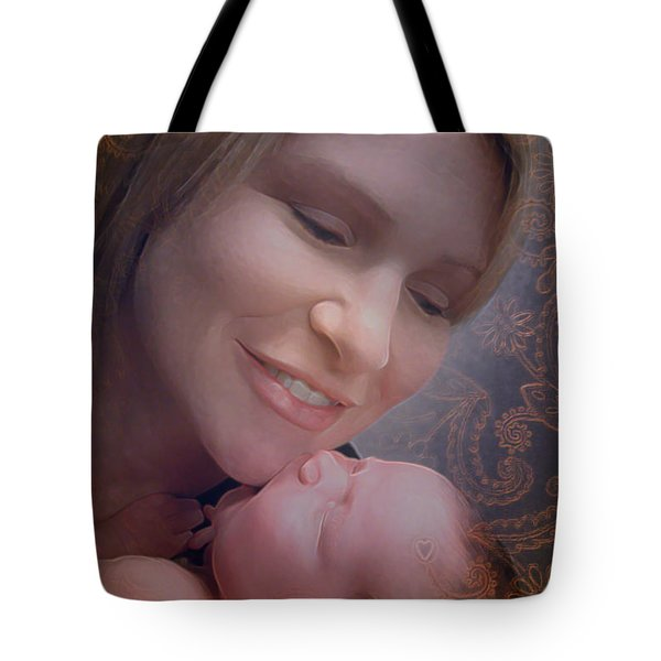 Tote Bag featuring the photograph Madonna And Child 2 by Kate Word