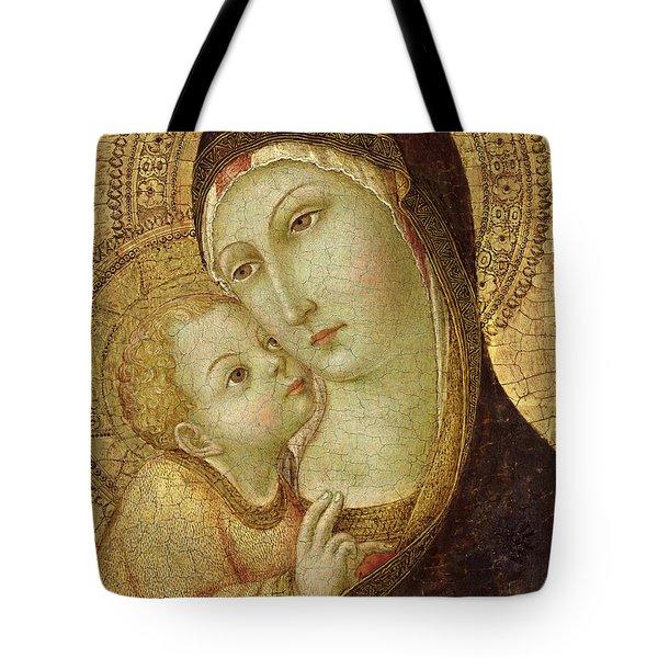 Madonna And Child Tote Bag by Ansano di Pietro di Mencio