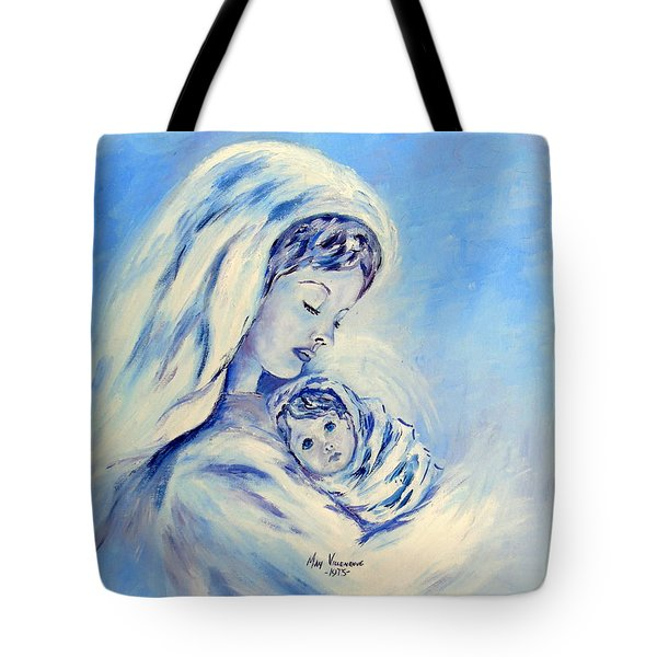 Madonna And Child By May Villeneuve Tote Bag