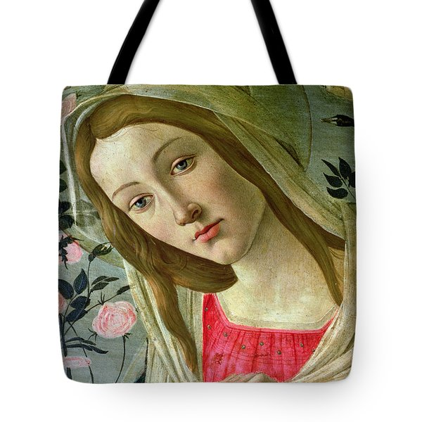Madonna And Child Crowned By Angels Tote Bag