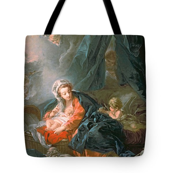 Madonna And Child Tote Bag by Francois Boucher