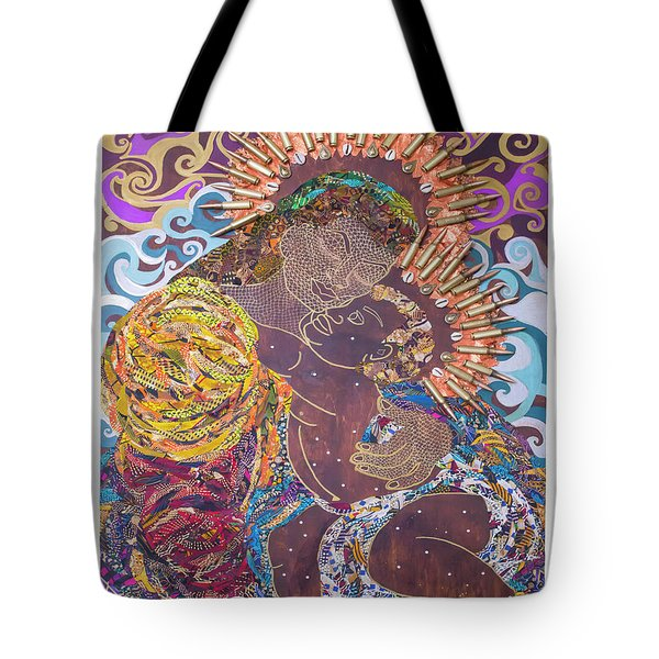 Madonna And Child The Sacred And Profane Tote Bag by Apanaki Temitayo M