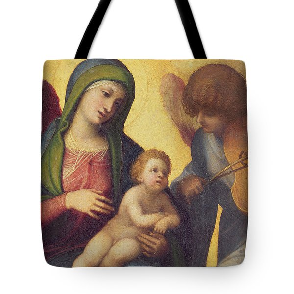 Madonna And Child With Angels Tote Bag by Correggio