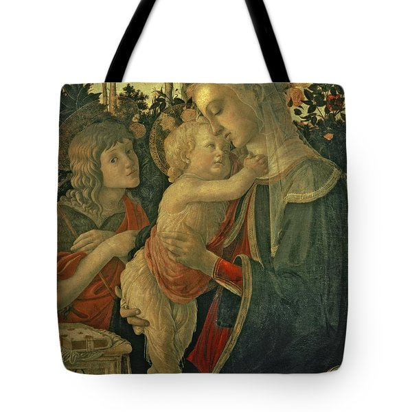Madonna And Child With St. John The Baptist Tote Bag by Sandro Botticelli