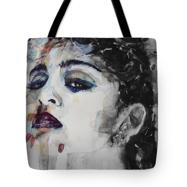 Tote Bag featuring the mixed media Madonna  Like A Prayer by Paul Lovering