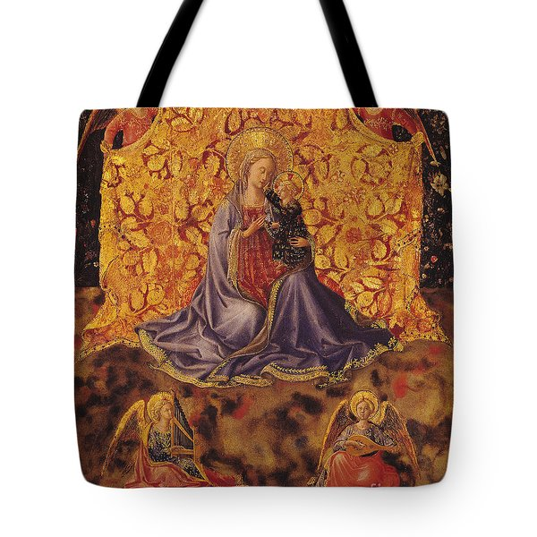 Madonna Of Humility With Christ Child And Angels Tote Bag by Fra Angelico