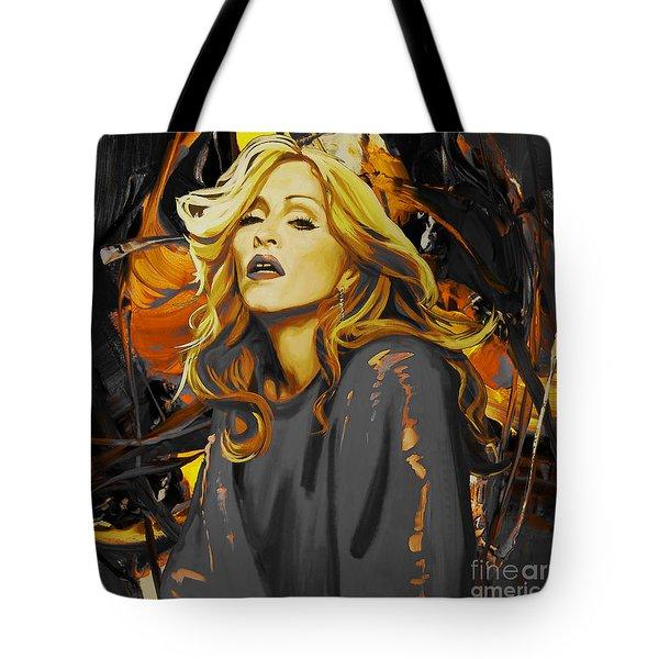 Madonna The Singer  Tote Bag