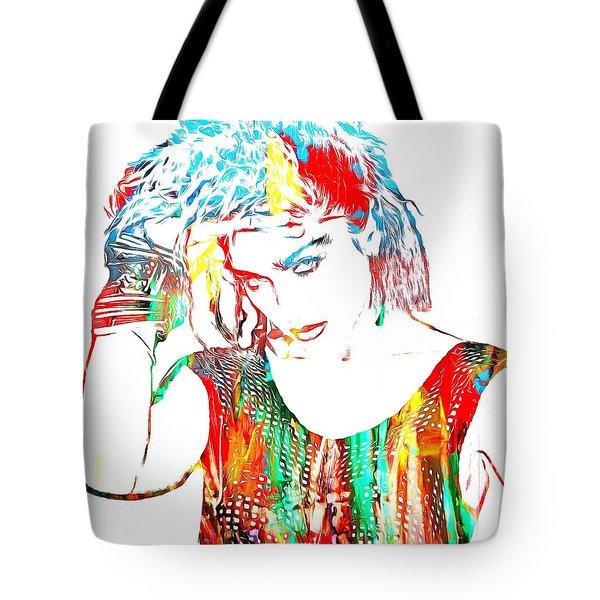 Madonna Watercolor Tote Bag